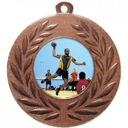 Bronze Handball Medal 50mm