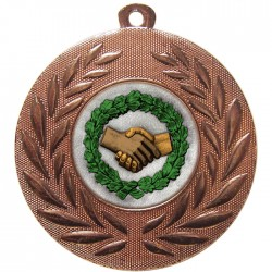 Bronze Handshake Medal 50mm