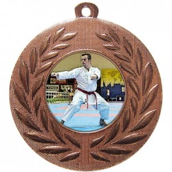 Bronze Karate Medal 50mm
