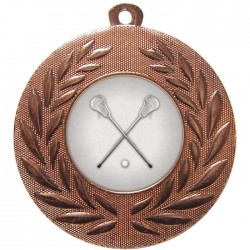 Bronze Lacrosse Medal 50mm