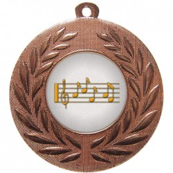 Bronze Music Medal 50mm