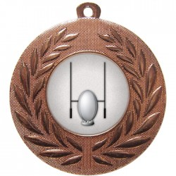 Bronze Rugby Medal 50mm
