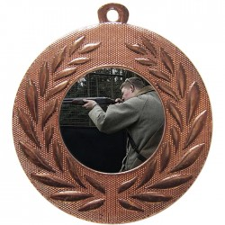 Bronze Clay Pigeon Shooting Medal 50mm