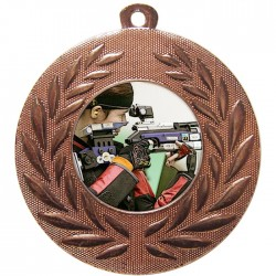 Bronze Rifle Shooting Medal 50mm