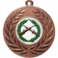 Bronze Small Bore Rifle Shooting Medal 50mm
