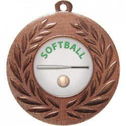 Bronze Softball Medal 50mm