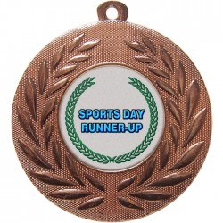Bronze Sports Day Runner Up Medal 50mm