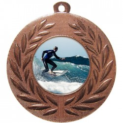 Bronze Surfing Medal 50mm