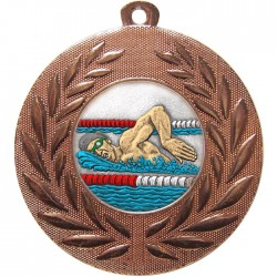 Bronze Swimming Medal 50mm