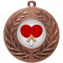 Bronze Table Tennis Medal 50mm