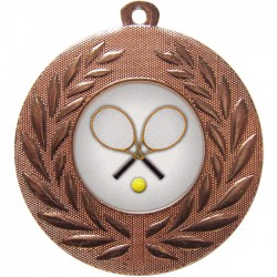 Bronze Tennis Medal 50mm