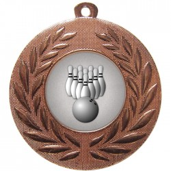 Bronze Ten Pin Bowling Medal 50mm