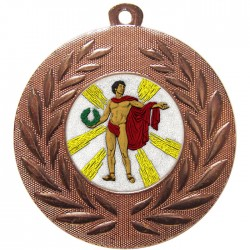 Bronze Victory Male Medal 50mm