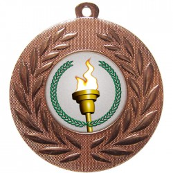 Bronze Victory Torch Medal 50mm