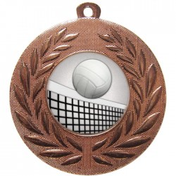 Bronze Volleyball Medal 50mm