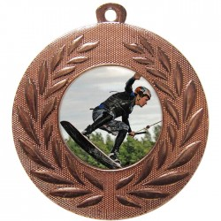 Bronze Wake Boarding Medal 50mm