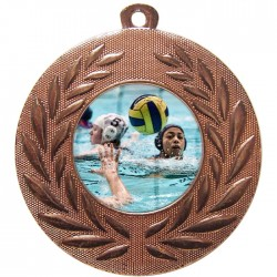 Bronze Water Polo Medal 50mm