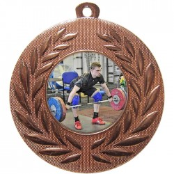 Bronze Weightlifting Medal 50mm