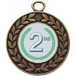 Bronze 2nd Place Medal 45mm