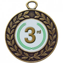 Bronze 3rd Place Medal 45mm