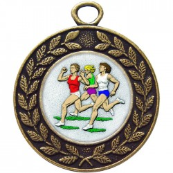 Bronze Female Athlete Medal 45mm