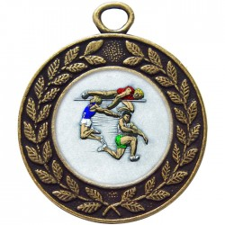 Bronze Jumping Athlete Medal 45mm