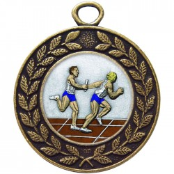 Bronze Relay Medal 45mm