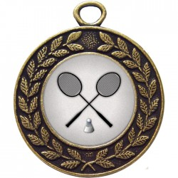 Bronze Badminton Medal 45mm