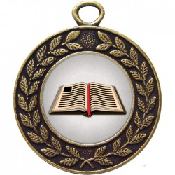 Bronze Book Medal 45mm
