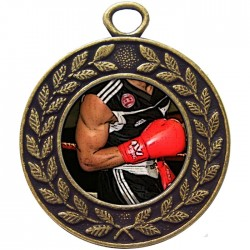 Bronze Boxing Medal 45mm