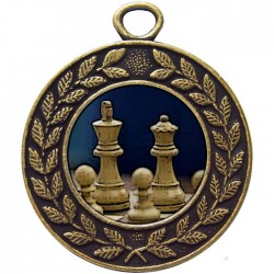 Bronze Chess Medal 45mm