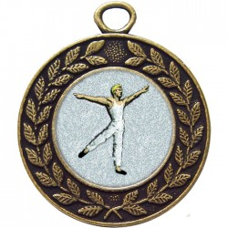 Bronze Male Dance Medal 45mm