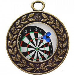 Bronze Darts Medal 45mm