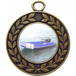 Bronze Rubber Dinghy Medal 45mm