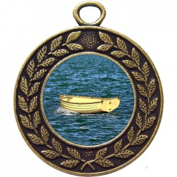 Bronze Wooden Dinghy Medal 45mm