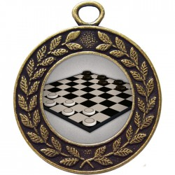 Bronze Draughts Medal 45mm