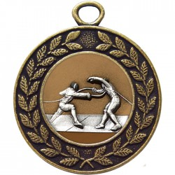 Bronze Fencing Medal 45mm