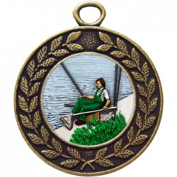 Bronze Fishing Medal 45mm