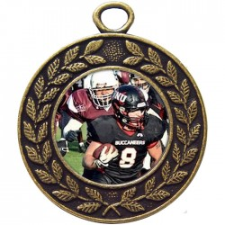 Bronze American Football Medal 45mm