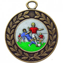 Bronze Male Football Medal 45mm