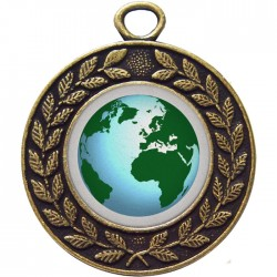Bronze Globe Medal 45mm