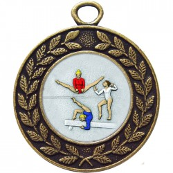 Bronze Female Gymnastics Medal 45mm