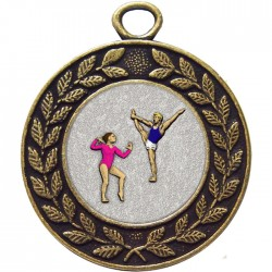 Bronze Gymnastics Floor Medal 45mm