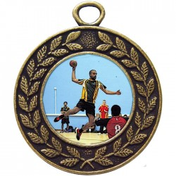 Bronze Handball Medal 45mm