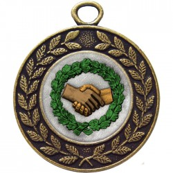 Bronze Handshake Medal 45mm
