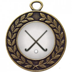 Bronze Hockey Medal 45mm