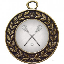 Bronze Lacrosse Medal 45mm