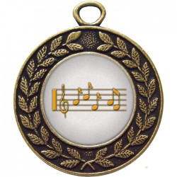 Bronze Music Medal 45mm