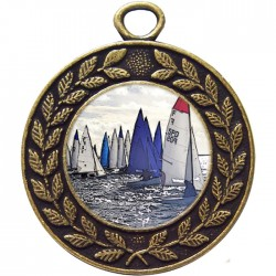 Bronze Sailing Medal 45mm