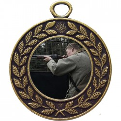 Bronze Clay Pigeon Shooting Medal 45mm